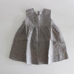 AS WE GROW  Sleeveless Dress  Checked Linen