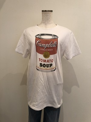 vintage campbell's soup cans printed t-shirt