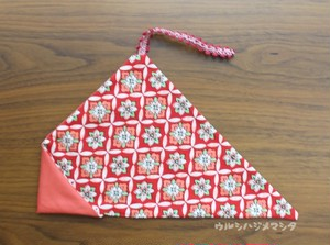 リバーシブル箸袋(桃色×着物・紅) / REVERSIBLE CHOPSTICKS BAG(Pink * Kimono・Red)
