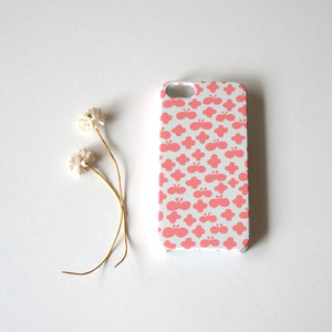 【iPhone / Android 各機種専用タイプ】側表面印刷*ハード型*スマホケース「 flower and butterfly ( pink ) 」● 受注生産
