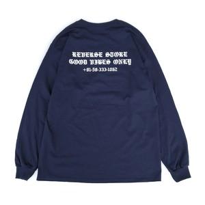 Reverse Original - GOOD VIBES ONLY Pocket L/S Tee - Navy