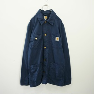carhartt navy L/S work shirt
