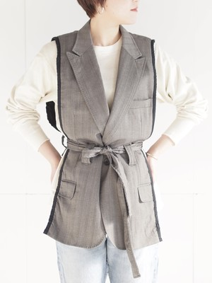 Remake suit jacket vest/C