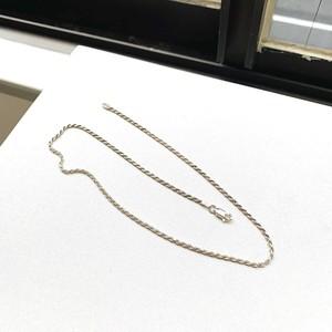 Italyシルバー925 ロープチェーンネックレス(40.5cm)