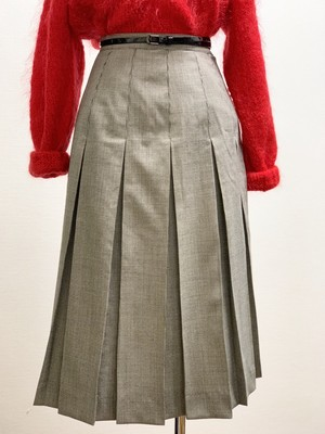 Vintage Houndstooth Pleated Skirt