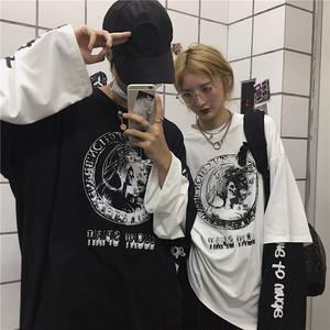 【トップス】ストリート系男女通用プリントシンプルTシャツ52134159