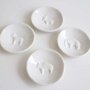 白磁動物豆皿