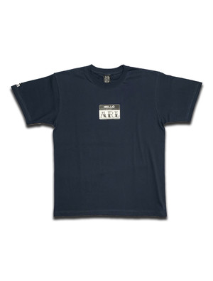 LOGO STICKER TEE smokyblue