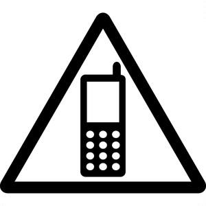 携帯電話使用注意マークのカッティングシートステッカー