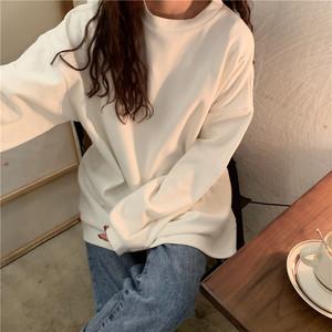 【即納】オーバーサイズ 無地 スウェット 長袖Tシャツ  T114