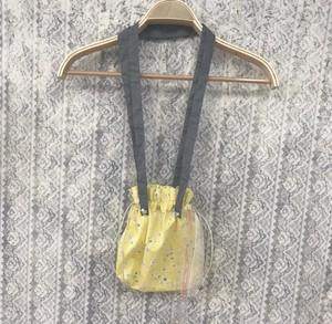 purse pochette〈yellow×gray〉