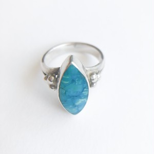 silver 925 turquoise ring #8[r-111]