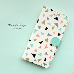 iPhone 手帳型スマホケース 【triangle】 iPhone5/5s/SE/6/6s/7/8/X/XS