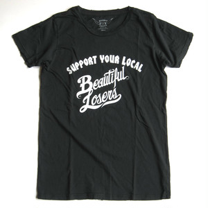 "Bandit Brand ""Beautiful Losers"" Womens Vintage Tee#WT-LOSERS,black"