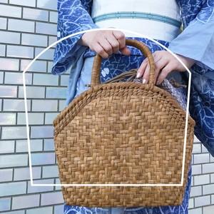しぼりのかごバッグ-marumi-送料無料