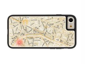 FLASH Paris回路地図 iPhone7/8 ケース 白【東京回路線図A5クリアファイルをプレゼント】