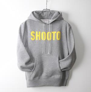 SHOOTO ロゴ パーカー(グレー × 黄)