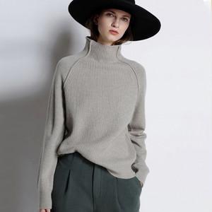 【tops】着回し力抜群ハイネック合わせやすいニットセーター