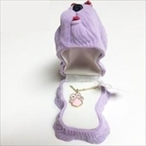 【いぬ】Wildlife Garden アニマルペンダント 愛しい ベロアボックス ♡ ユニークな動物たち ペンダント 40cm アジャスタ付