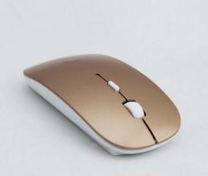 超薄型 ワイヤレス 光学式マウス ゴールド Windows and Macにも対応 spab202