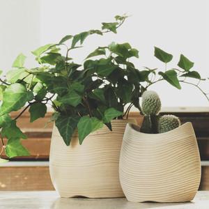 FUQUGI(フクギ)CURVE φ9×H9cm ナチュラル 植木鉢 観葉植物 vase