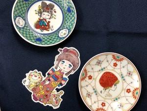 水森亜土「九谷焼 豆皿(まめざら)」