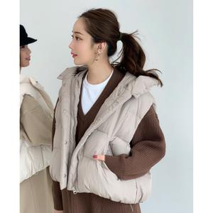 【予約】down vest / beige (即納)