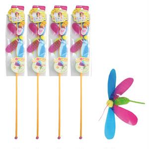 【送料込み】つり竿の猫おもちゃ カシャカシャぶんぶん ハチ4本セット(メール便)