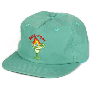 PASS PORT(パスポート) / FLAMING 5 PANEL CAP -TEAL-