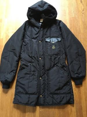 希少 アメリカ製 refrigiwear リフリッジウエア ヘビーナイロンコート 黒 ブラック
