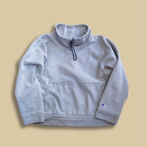 WCH Remake Mock Turtle Pullover Sweat Shirts -Gray /S-a