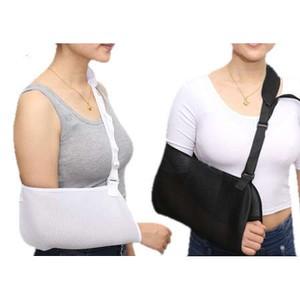 当日発送-三角巾。腕の骨折、脱臼、四十肩のサポータ。黒と白があり。2個セット。大人用。 アーム 腕 ホルダー スリング つり 吊り おしゃれ かっこいい クール