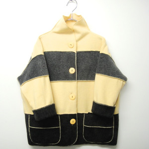 marsh fe' border fleece Yellow☓Gray KFJ0005