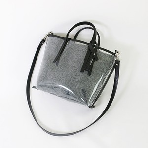 CECILY SMALL SHOULDER D.GREY BOA / black leather【MORROW】