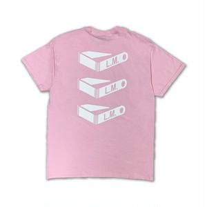 Triple Ear Tag T-shirt Pink