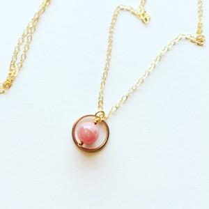 あなたが素敵なパートナーに愛されて幸せになる【秘密の方法】   18kピンクゴールド製 「幸運のベビーリングネックレス」