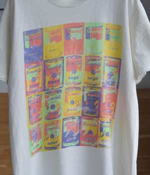 VINTAGE 90s T-shirt Campbell soup -Andy Warhol-