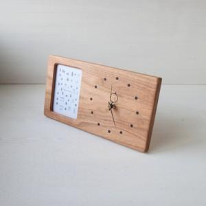 木の時計&フォトフレーム No4 | クルミ