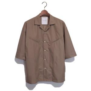 Western S/S Loose Shirt -khaki <LSD-AI1S8>
