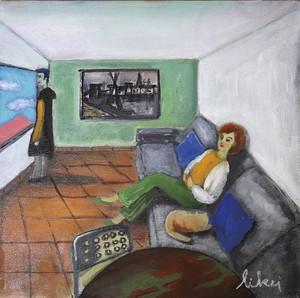 ベルナールビュッフェの絵画がある部屋