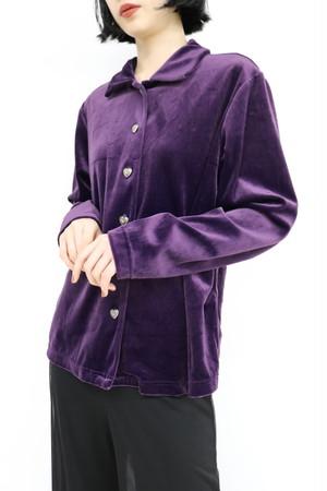 velour heart  button shirt / TP11040007
