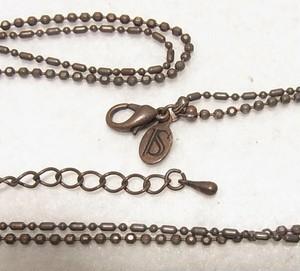 シックな古色のネックレス コスチュームジュエリーのセール通販 4742N
