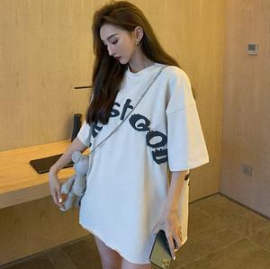 【トップス】韓国系半袖ラウンドネックプルオーバーTシャツ32764396