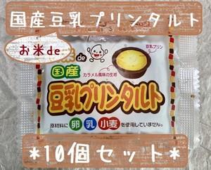 アレルギー対応♪ 10個セット*冷凍デザート・給食デザート『お米de豆乳プリンタルト』