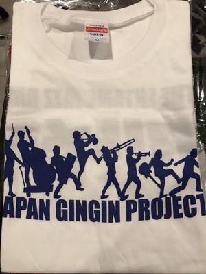 【特別販売】カルメラロゴTシャツ【白×紺M】