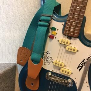 Qourrier / Blue Green【長さ調節を自在にしたギターストラップ】