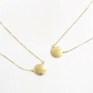 ヴィンテージスタインウェイピアノのパーツを使った月を思わせるネックレス Vintage steinway piano capstan necklace (Moon)
