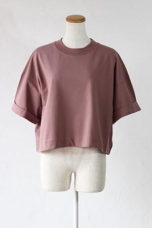 【SAYAKADAVIS】cropped tee-pink clay