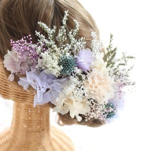 ○受注製作○ ヘッドドレス~ purple & white ~
