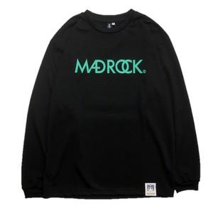 マッドロック / ロゴ ロンT / ドライタイプ / ブラック&エメラルド